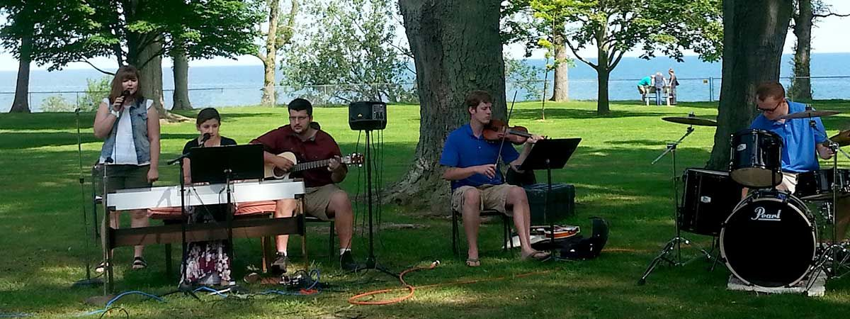 Worship Team at Lake Ontario Picnic